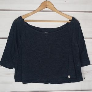 Hollister Navy Blue Crop Sweater Size M/L